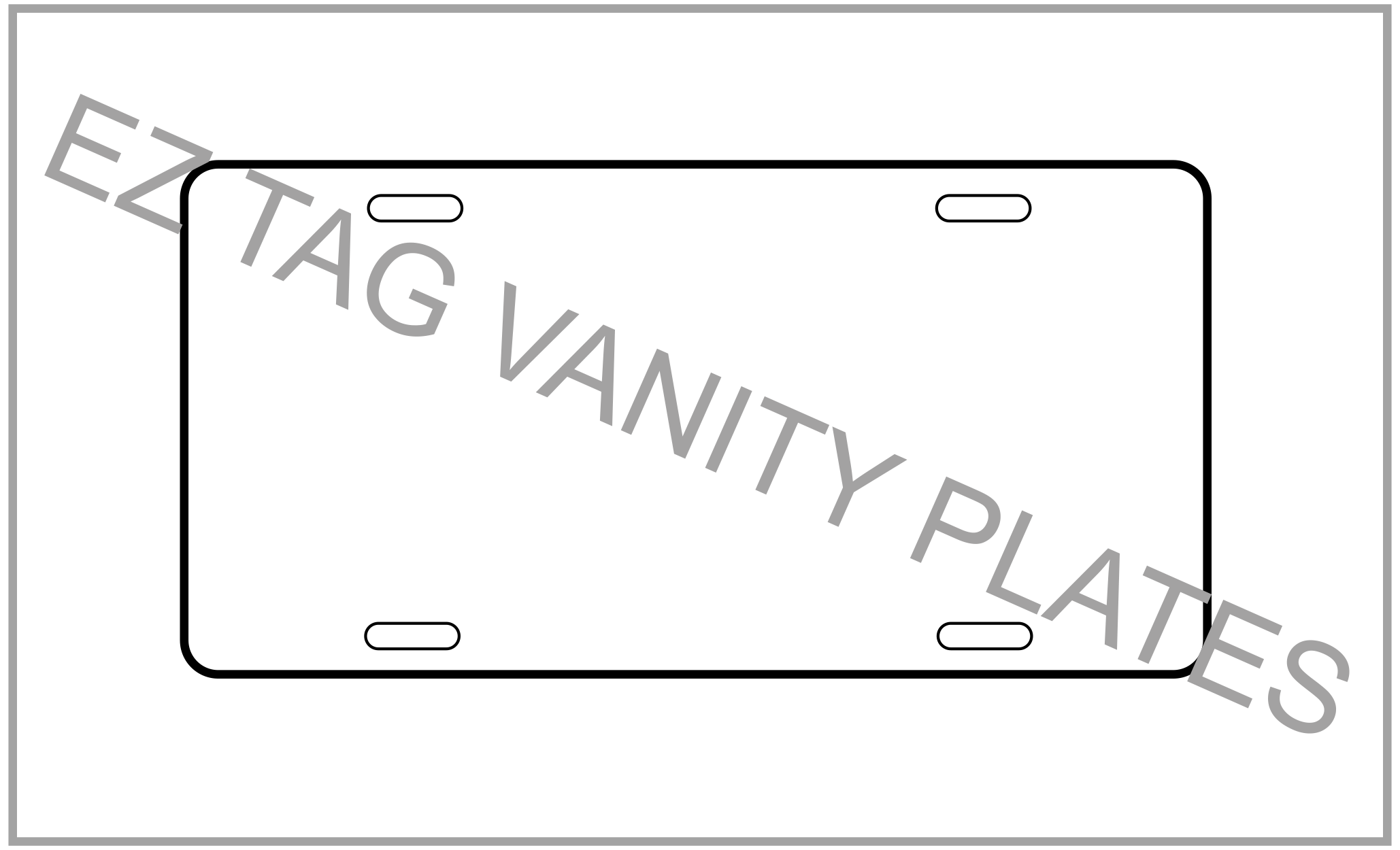 EZ Tag Vanity Plates- Motor Vehicle (100 pack) <br>